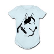 Baby Bodysuits ~ Baby Short Sleeve One Piece ~ Baby Husky Creeper Toddler Husky Malamute Bodysuit
