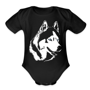 Baby Husky Creeper Toddler Husky Malamute Bodysuit - Short Sleeve Baby Bodysuit