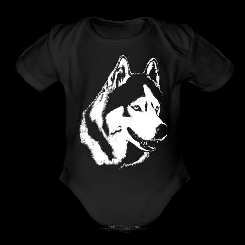 Baby Husky Creeper Toddler Husky Malamute Bodysuit - Organic Short Sleeve Baby Bodysuit