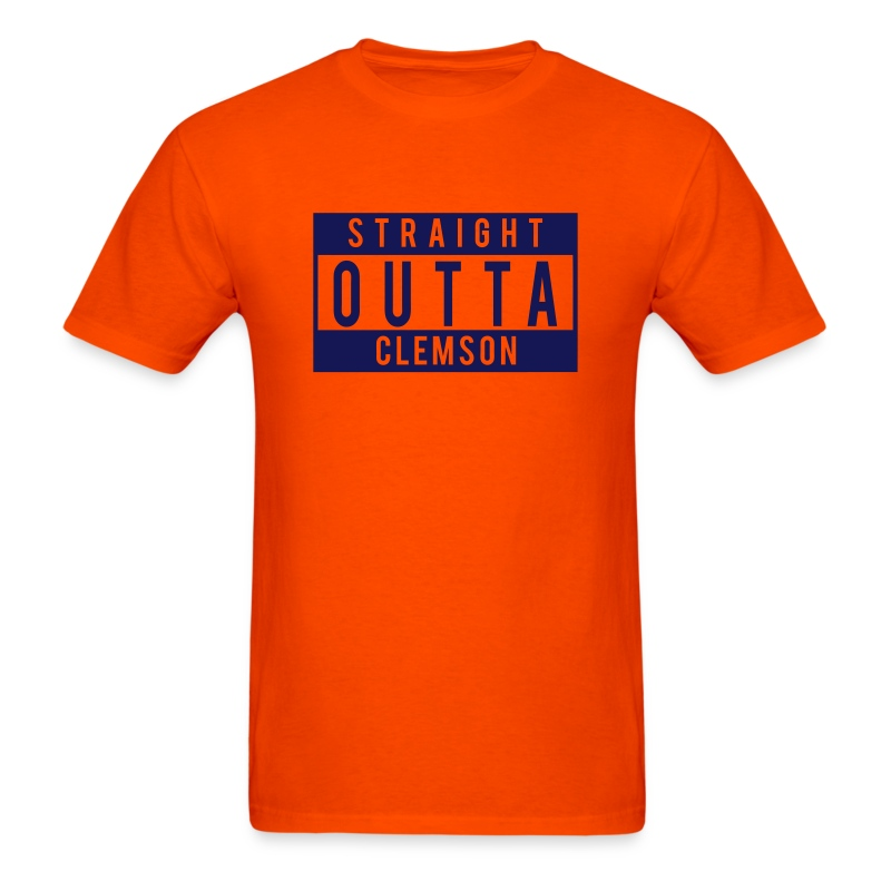 Straight outta clemson t shirt spreadshirt for Straight from the go shirt