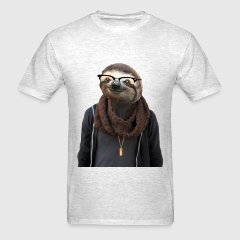 Men's Hipster Sloth Shirt - Men's T-Shirt