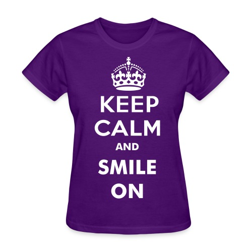 KEEP CALM AND SMILE ON Women's Tee - Women's T-Shirt