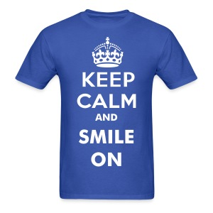 KEEP CALM AND SMILE ON Men's Tee - Men's T-Shirt