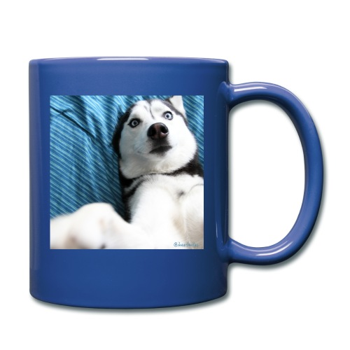 Blue Selfie Mug - Full Color Mug