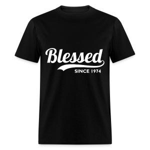 Blessed since 1974 - Birthday Thanksgiving T-Shirt - Men's T-Shirt