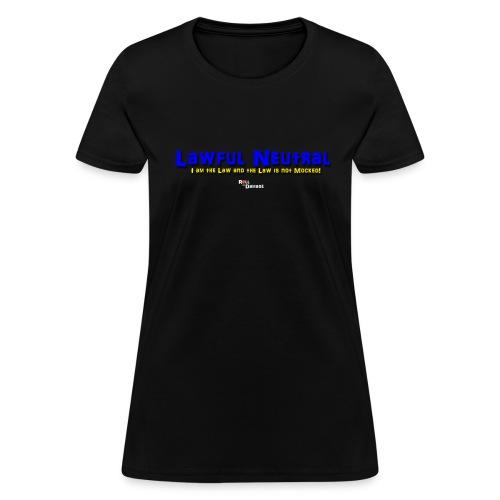 Lawful Neutral Alignment Ladies' Tee - Women's T-Shirt