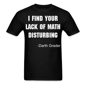 Lack of math mens dark - Men's T-Shirt