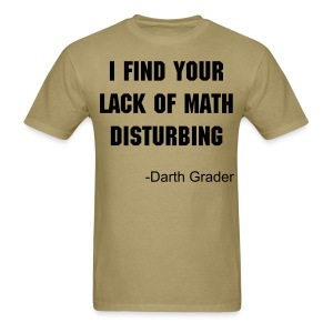Lack of math mens light - Men's T-Shirt