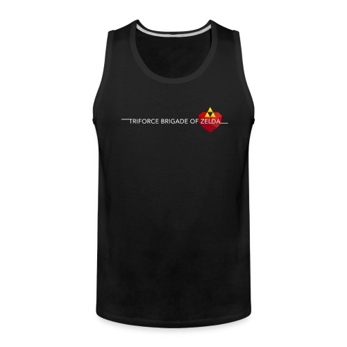 TBZ Men's Tank Top Shirt [Premium] Black - Men's Premium Tank