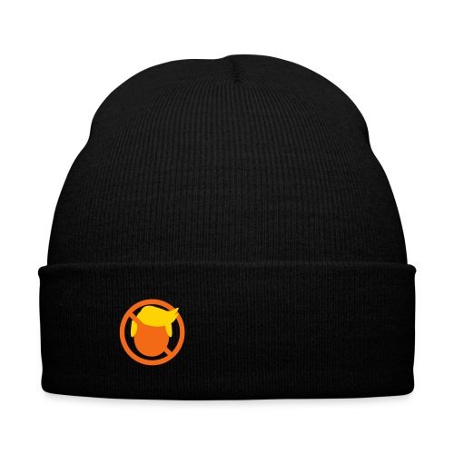 Subtly Say No - Beanie - Knit Cap with Cuff Print
