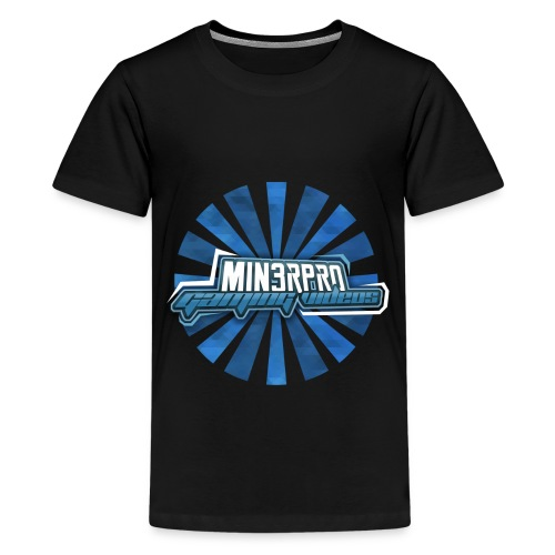 Minecraft Min3rpro Official logo in Blue! - Kids' Premium T-Shirt
