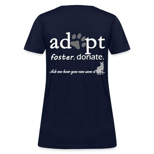 Adopt, Foster, Donate Women's Tee - Women's T-Shirt
