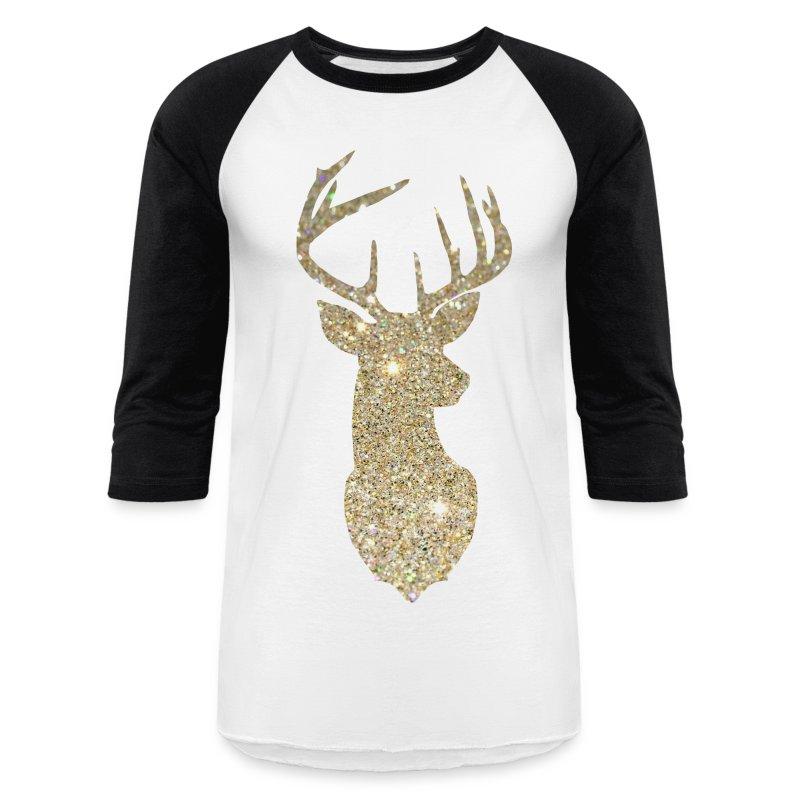 Golden Deer Head Men S Baseball T Shirt Spreadshirt