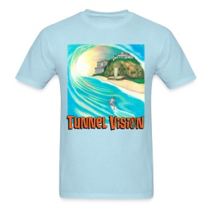 Tunnel Vision Wave Drawing - Men's T-Shirt