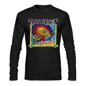 Black Long Sleeve Tunnel Vision Tee - Men's Long Sleeve T-Shirt by Next Level