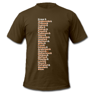 T-Shirts ~ Men's T-Shirt by American Apparel ~ Cleveland Franchise QBs