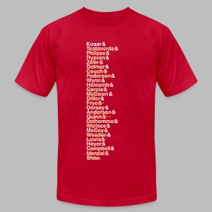 Cleveland Franchise QBs - Men's T-Shirt by American Apparel