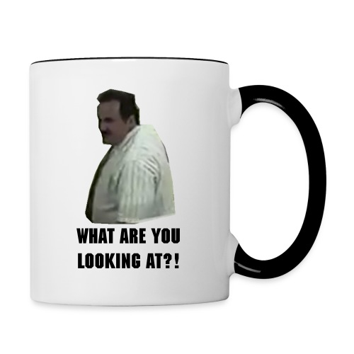 What are you looking at?! Mug - Contrast Coffee Mug