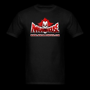 MMAmadhouse with URL (FRONT) Support Local MMA (BACK) - Men's T-Shirt