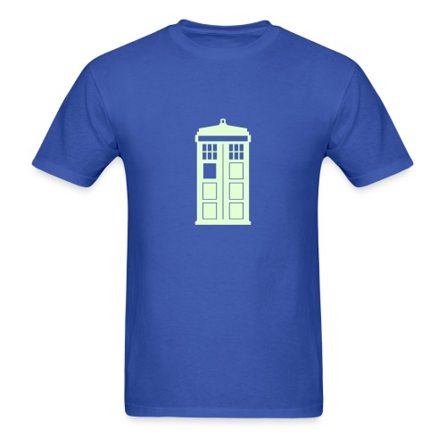 Police Box (glow) - Men's T-Shirt