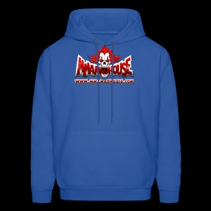 MMAmadhouse with URL (FRONT) Support Local MMA (BACK) - Men's Hoodie