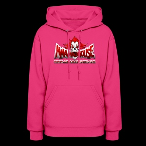 MMAmadhouse with URL (FRONT) Support Local MMA (BACK) - Women's Hoodie