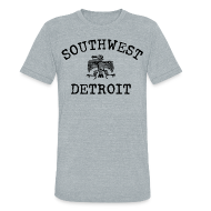 T-Shirts ~ Unisex Tri-Blend T-Shirt by American Apparel ~ Southwest Detroit Aztec Eagle