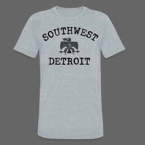 Southwest Detroit Aztec Eagle - Unisex Tri-Blend T-Shirt