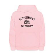 Sweatshirts ~ Kids' Hoodie ~ Southwest Detroit Aztec Eagle