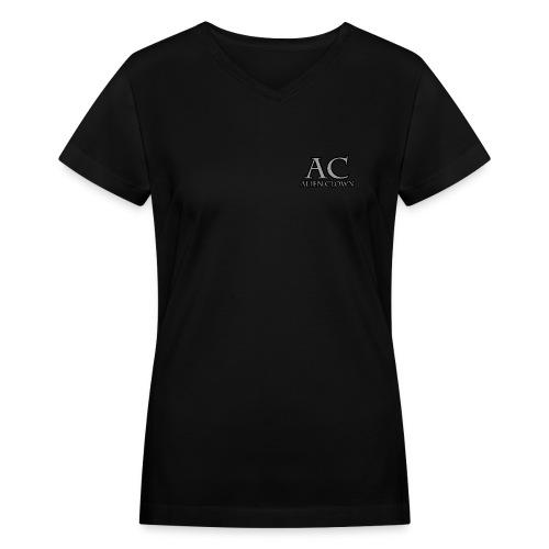 Alien Clown Simple Logo Women's V-Neck T - Women's V-Neck T-Shirt