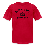 T-Shirts ~ Men's T-Shirt by American Apparel ~ Southwest Detroit Aztec Eagle