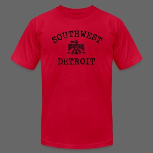Southwest Detroit Aztec Eagle - Men's T-Shirt by American Apparel