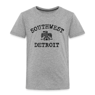 Baby & Toddler Shirts ~ Toddler Premium T-Shirt ~ Southwest Detroit Aztec Eagle