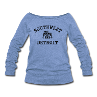 Long Sleeve Shirts ~ Women's Wideneck Sweatshirt ~ Southwest Detroit Aztec Eagle