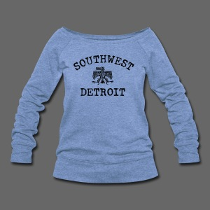 Southwest Detroit Aztec Eagle - Women's Wideneck Sweatshirt