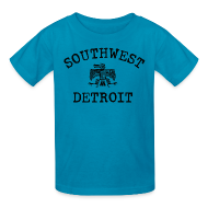 Kids' Shirts ~ Kids' T-Shirt ~ Southwest Detroit Aztec Eagle