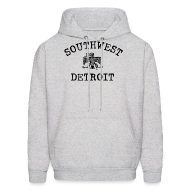 Hoodies ~ Men's Hoodie ~ Southwest Detroit Aztec Eagle
