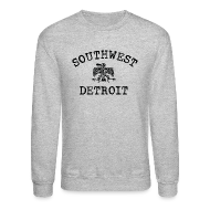 Long Sleeve Shirts ~ Men's Crewneck Sweatshirt ~ Southwest Detroit Aztec Eagle