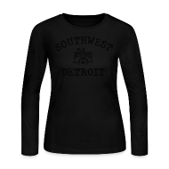 Long Sleeve Shirts ~ Women's Long Sleeve Jersey T-Shirt ~ Southwest Detroit Aztec Eagle