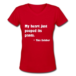 Tina Belcher Quote V-Neck - Women's V-Neck T-Shirt