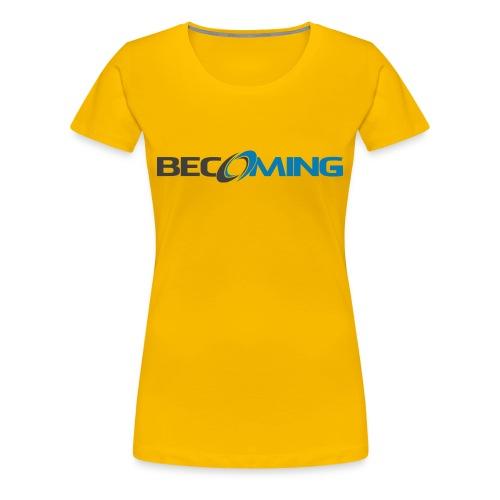 Becoming Women's Logo Premium - Women's Premium T-Shirt