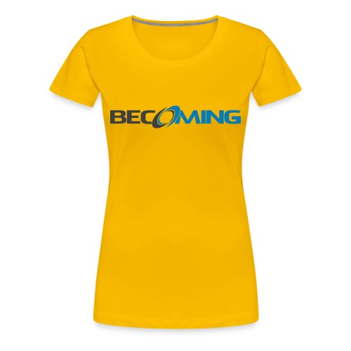 Becoming Women's Logo Premium - Women's Premium T-Shirt