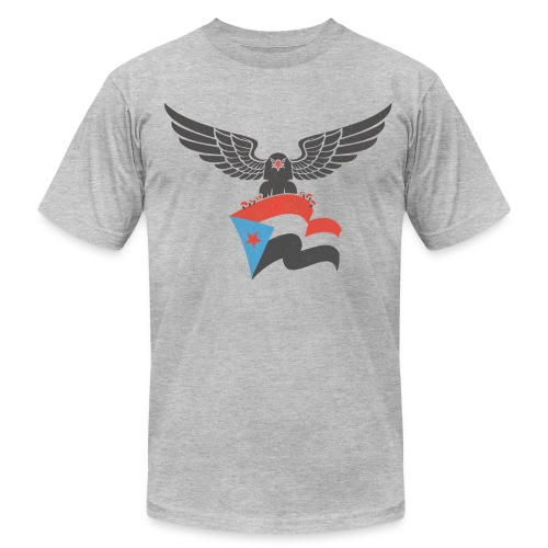 south yemen Eagle and flag - Men's Fine Jersey T-Shirt