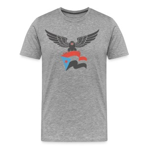 south yemen Eagle and flag - Men's Premium T-Shirt