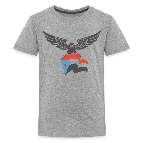 south yemen Eagle and flag - Kids' Premium T-Shirt
