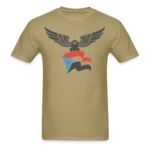 south yemen Eagle and flag - Men's T-Shirt
