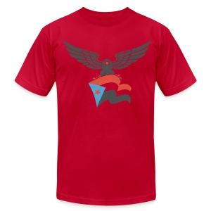 south yemen Eagle and flag - Men's Fine Jersey T-Shirt