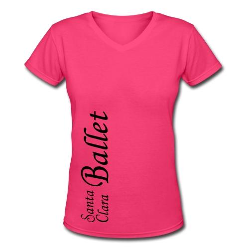 Lady's V-neck T - Dark Logo - Women's V-Neck T-Shirt