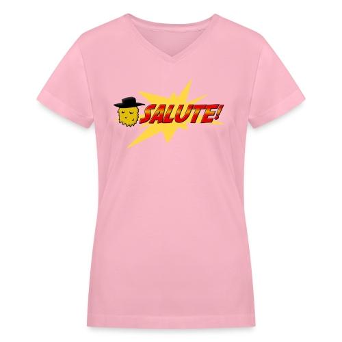 Beard Salute (Women's V-neck) - Women's V-Neck T-Shirt