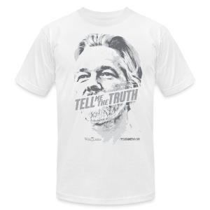 Tell me the Truth: Assange - Men's T-Shirt by American Apparel